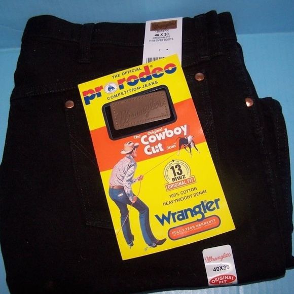 choose clearance buying cheap clear-cut texture Wrangler Cowboy Cut 13MWZ Original Fit Jeans 40X30 NWT